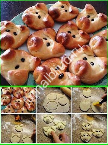 Булочки для детей рецепт с фото