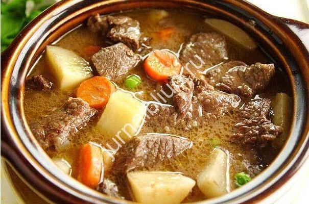 Тушеная говядина с овощами фото