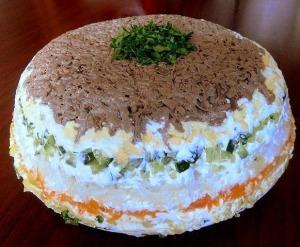 Салат с печенью фото