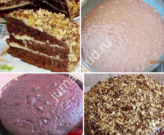 Шоколадный торт на кефире фото