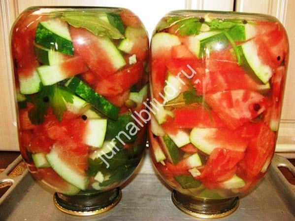 Как солить арбузы