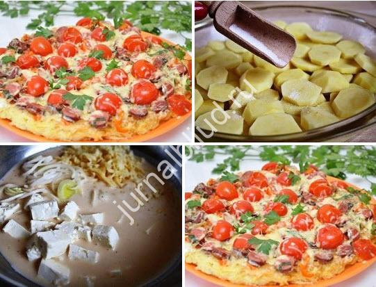 картофельнная пицца