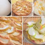 Бисквитный нежный пирог с яблоками