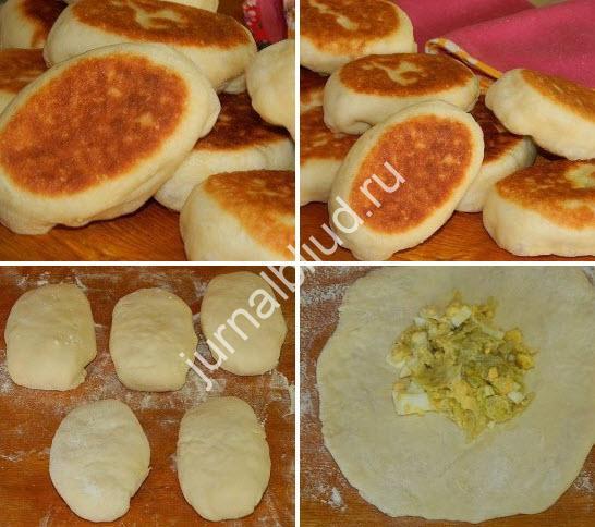 Пирожки из пышного теста