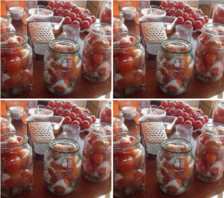 Рецепт засолки небольших помидор в литровые банки