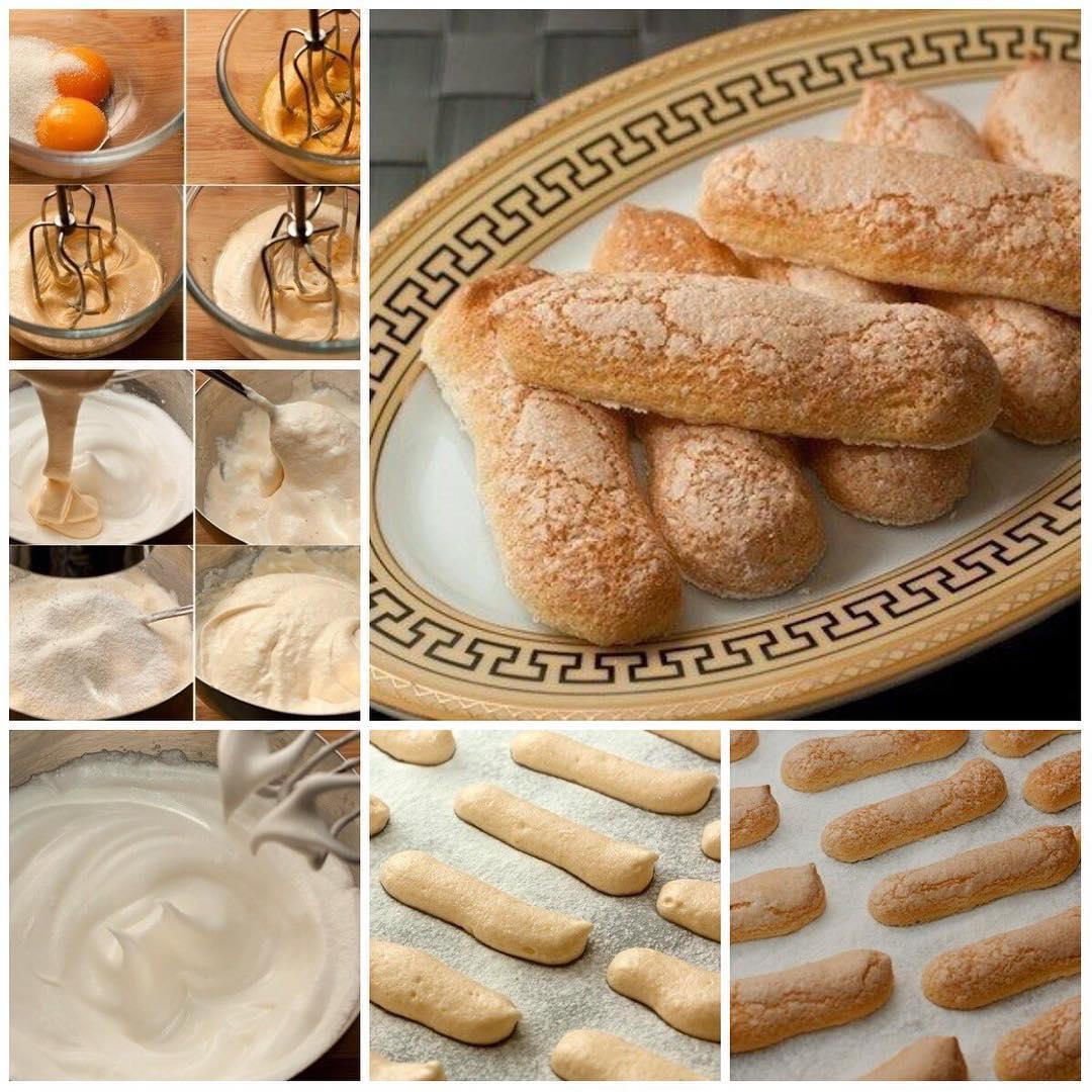 """Бисквитное печенье Савоярди, или """"дамские пальчики"""""""
