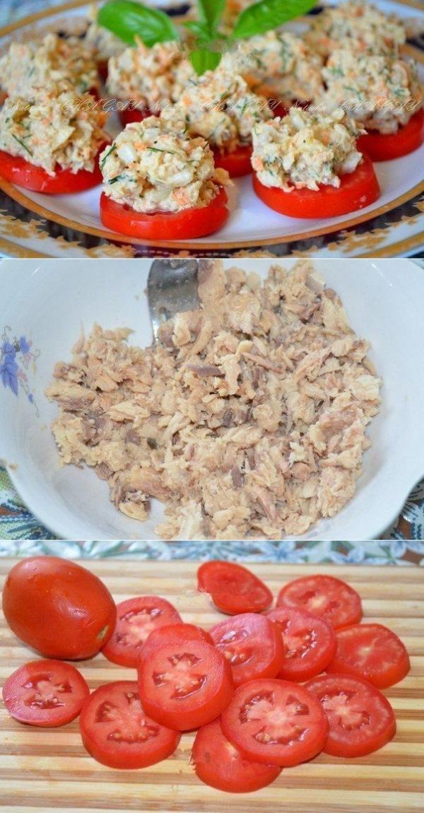 Закуска из рыбных консервов