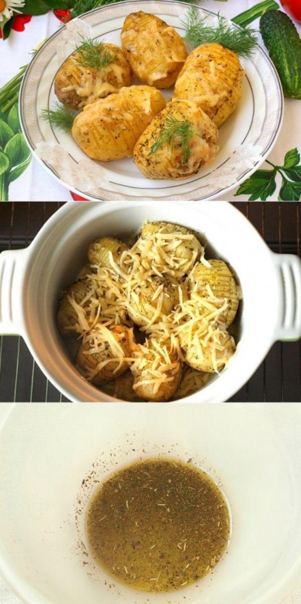 Этим запечённым картофелем  угостила меня подруга я сразу попросила рецепт. Мои домочадцы умяли его за минуты. Вот сегодня опять делаю. Удачный рецепт.