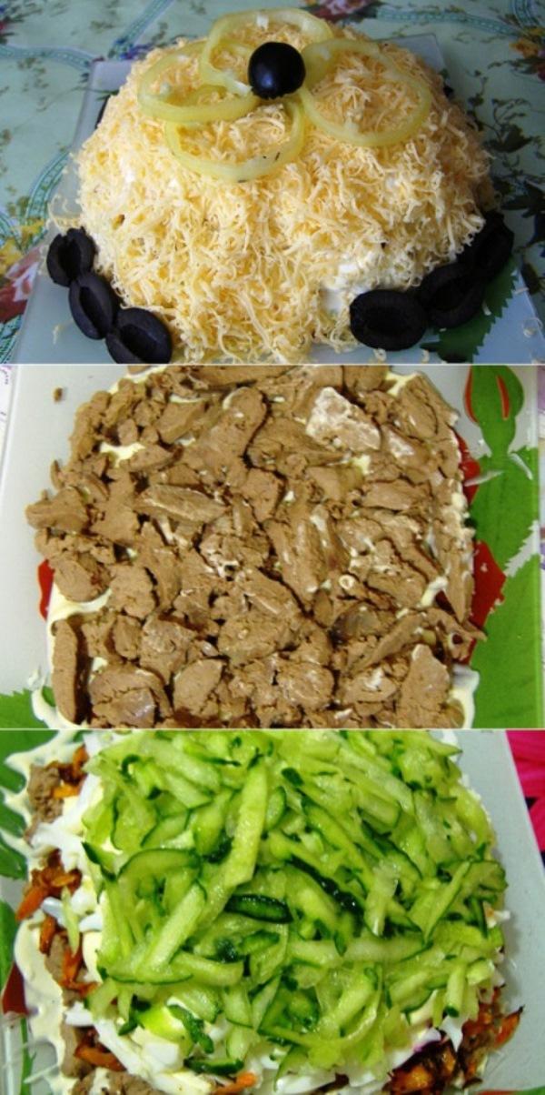 Салат с куриной печенью  затмил крабовый и шубу. Бесподобный рецепт!