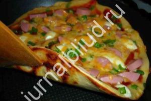Пицца на сковороде рецепт