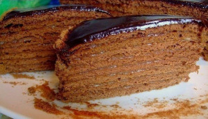 Шоколадный медовик фото