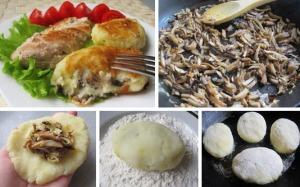Картофельные зразы с грибами фото
