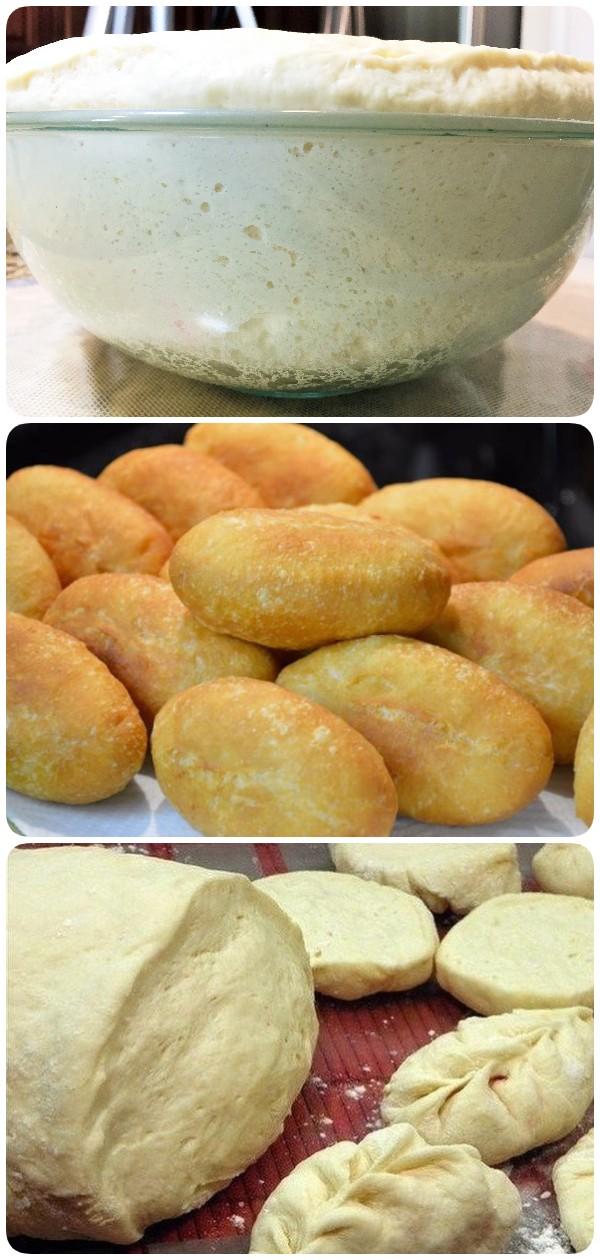 Изумительное тесто для жареных пирожков или беляшей