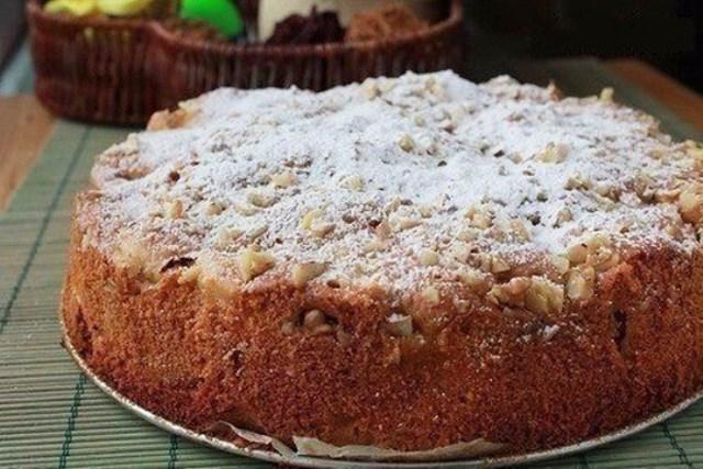 Яблочный пирог «Домашний» Пирог получился очень вкусный!! Прям обалденный! Попробуйте!