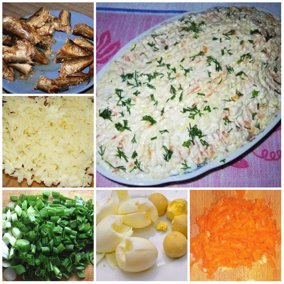"""Салат """"Шпротка"""" стал незаменимым на все праздники. Вкуснятина необыкновенная."""