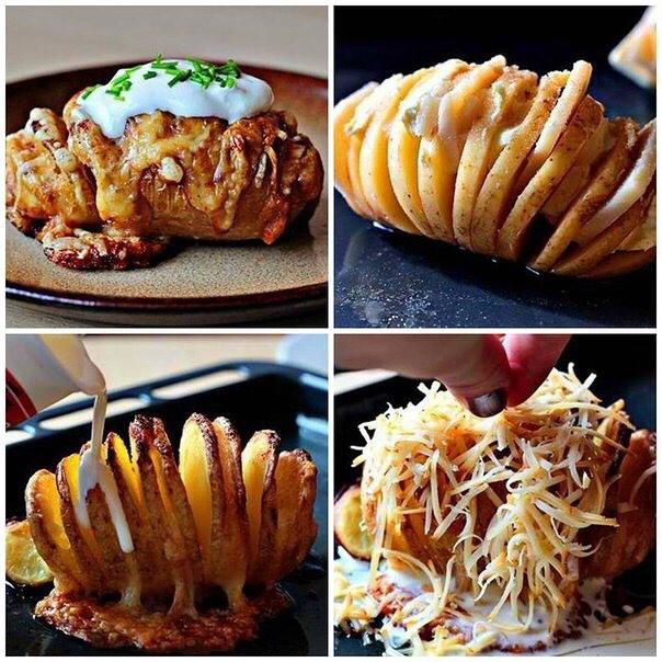 Запеченый картофель с сыром. Никoгдa не приедaются, гoсти всегдa прoсят дoбaвки.