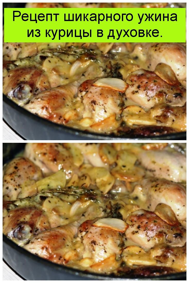 Рецепт шикарного ужина из курицы в духовке 4