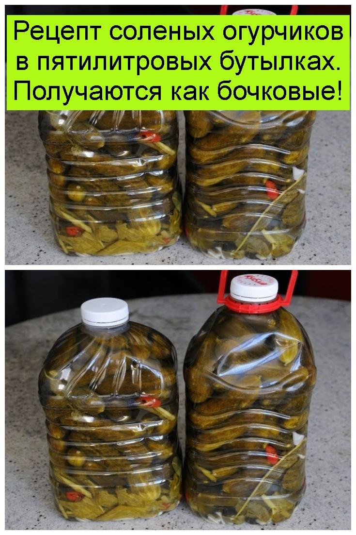 Рецепт соленых огурчиков в пятилитровых бутылках. Получаются как бочковые 4