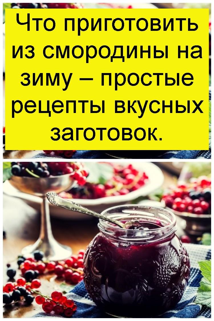 Что приготовить из смородины на зиму – простые рецепты вкусных заготовок 4