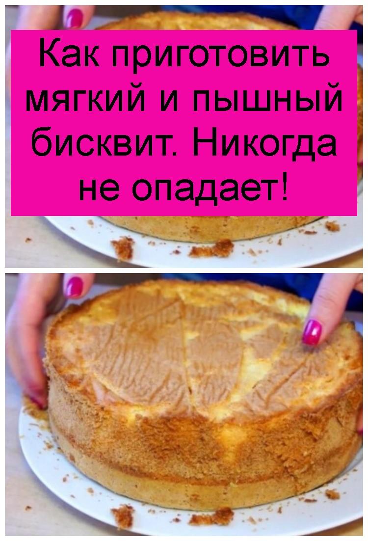 Как приготовить мягкий и пышный бисквит. Никогда не опадает 4