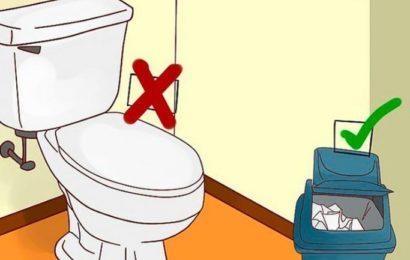 Не вздумайте смывать эти вещи в унитаз, иначе будет 1