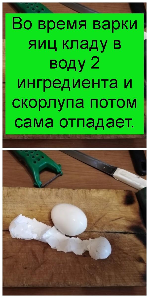 Во время варки яиц кладу в воду 2 ингредиента и скорлупа потом сама отпадает 4